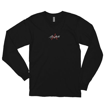 'LAUNCH EDITION' EMBROIDERED LONG SLEEVE (BLACK/WHITE)
