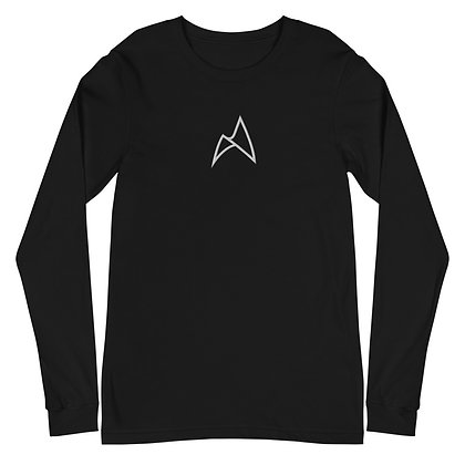 EMBROIDERED LONG SLEEVE (BLACK/WHITE)