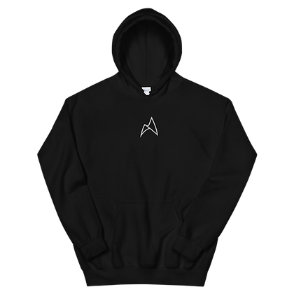 EMBROIDERED HOODIE (BLACK/WHITE)