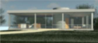 Phillip Johnsons Glass House rendered in Revit