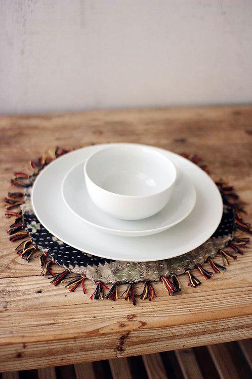 3-piece white ceramic dinnerware
