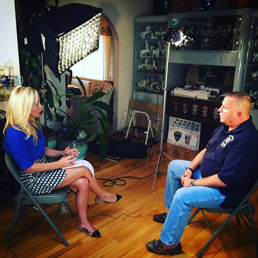 Reporter interview with 9/11 first responder.