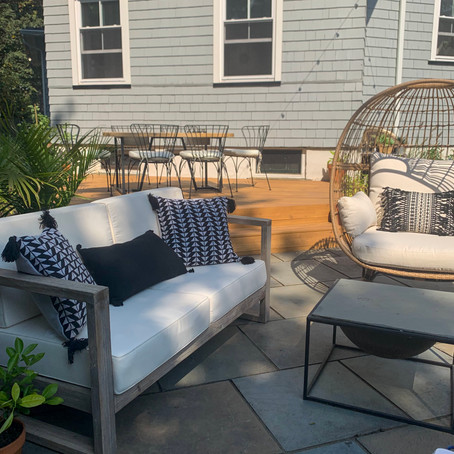 How we DIY'ed our backyard deck! And got all this blue stone for $300...