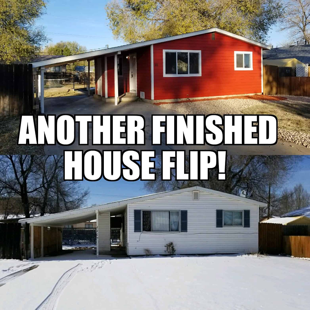 Before and after house flip