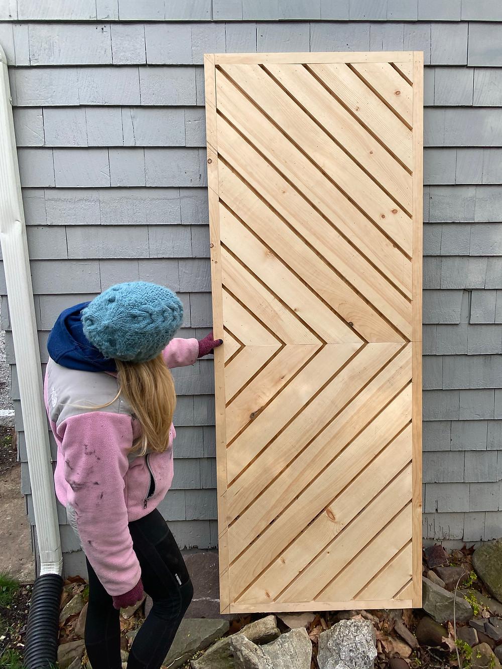 chevron barn door, diy barn door