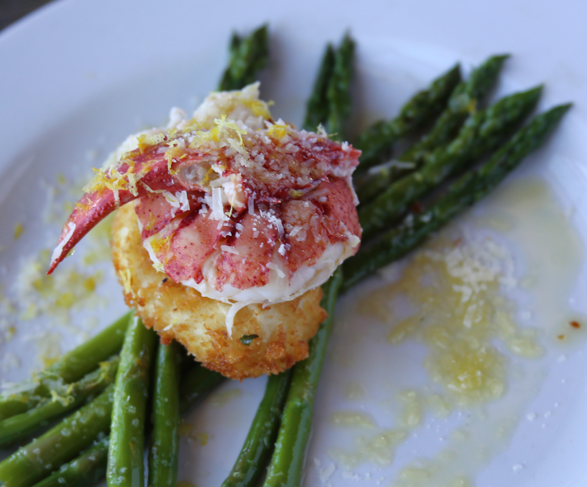 Asparagus lobster egg