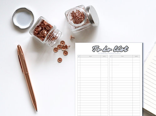 To-Do List Planner, Simple Every Day Task List, Stationery