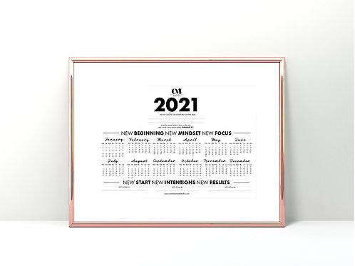 2021 Wall Calendar Year In Review Printed