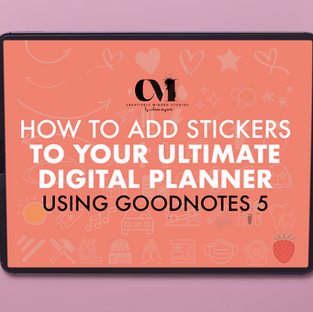 How To Add Stickers To Your Digital Planner In Goodnotes 5
