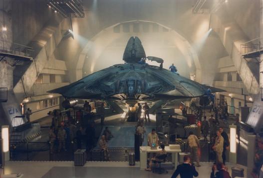 Set of Area 51 hangar