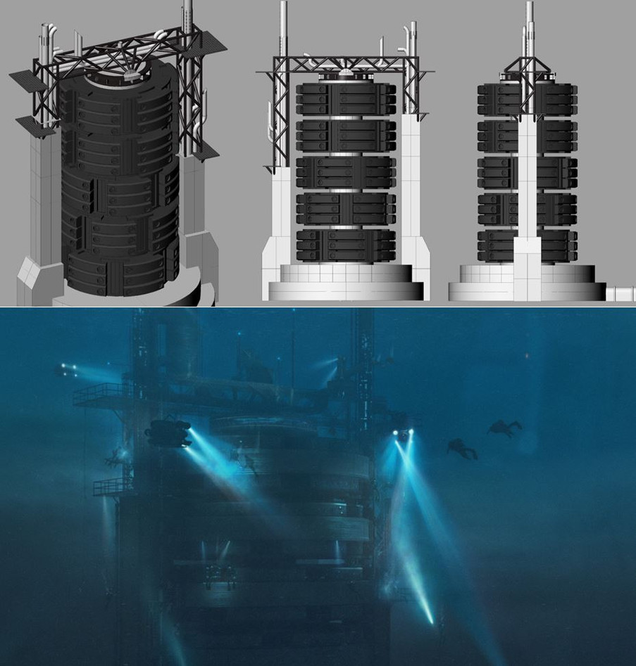 Underwater reactor basic CG model/Finished full CG composite