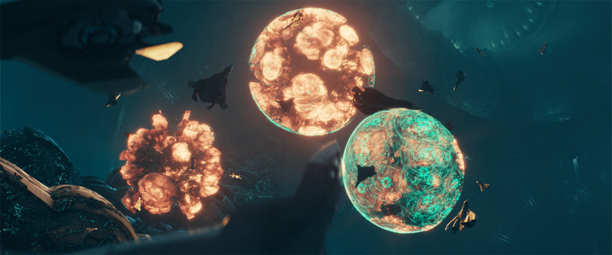 Exploding cold fusion bombs inside the mothersship/Full CG shot by Uncharted Territory
