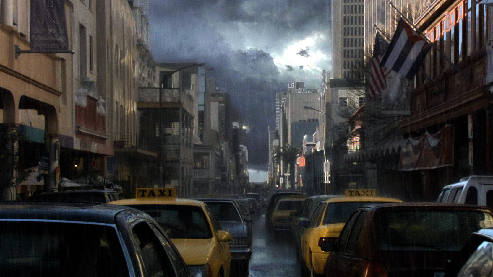 The rift creates a massive storm