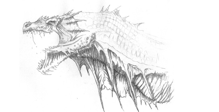 Dragon head design bei John Chalfant at Uncharted Territory