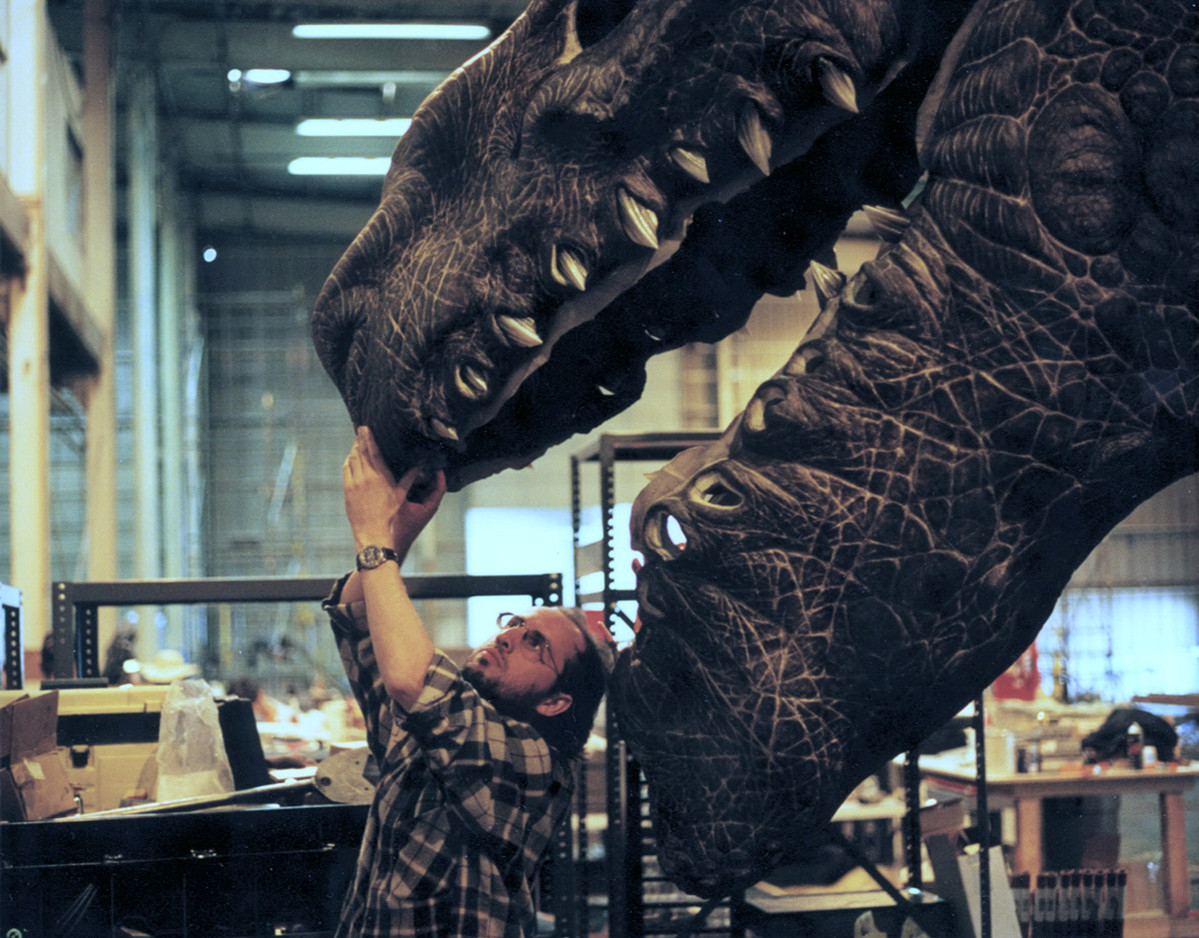 VFX Supervisor Volker Engel with 6th scale Godzilla head