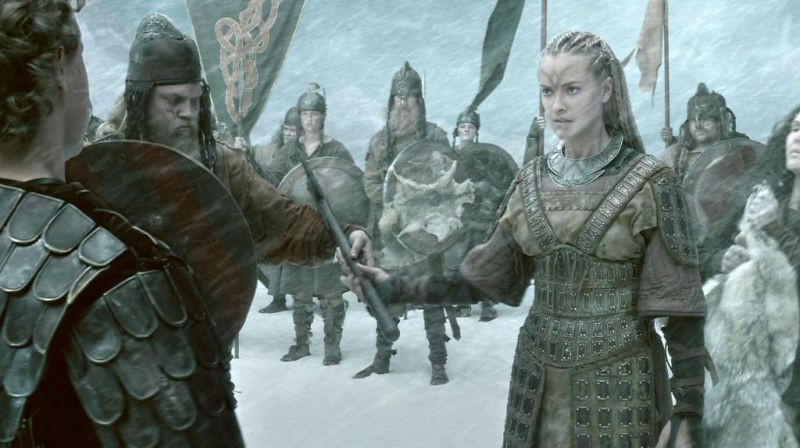 King Gunther and Queen Brunhild prepare for the ice fight