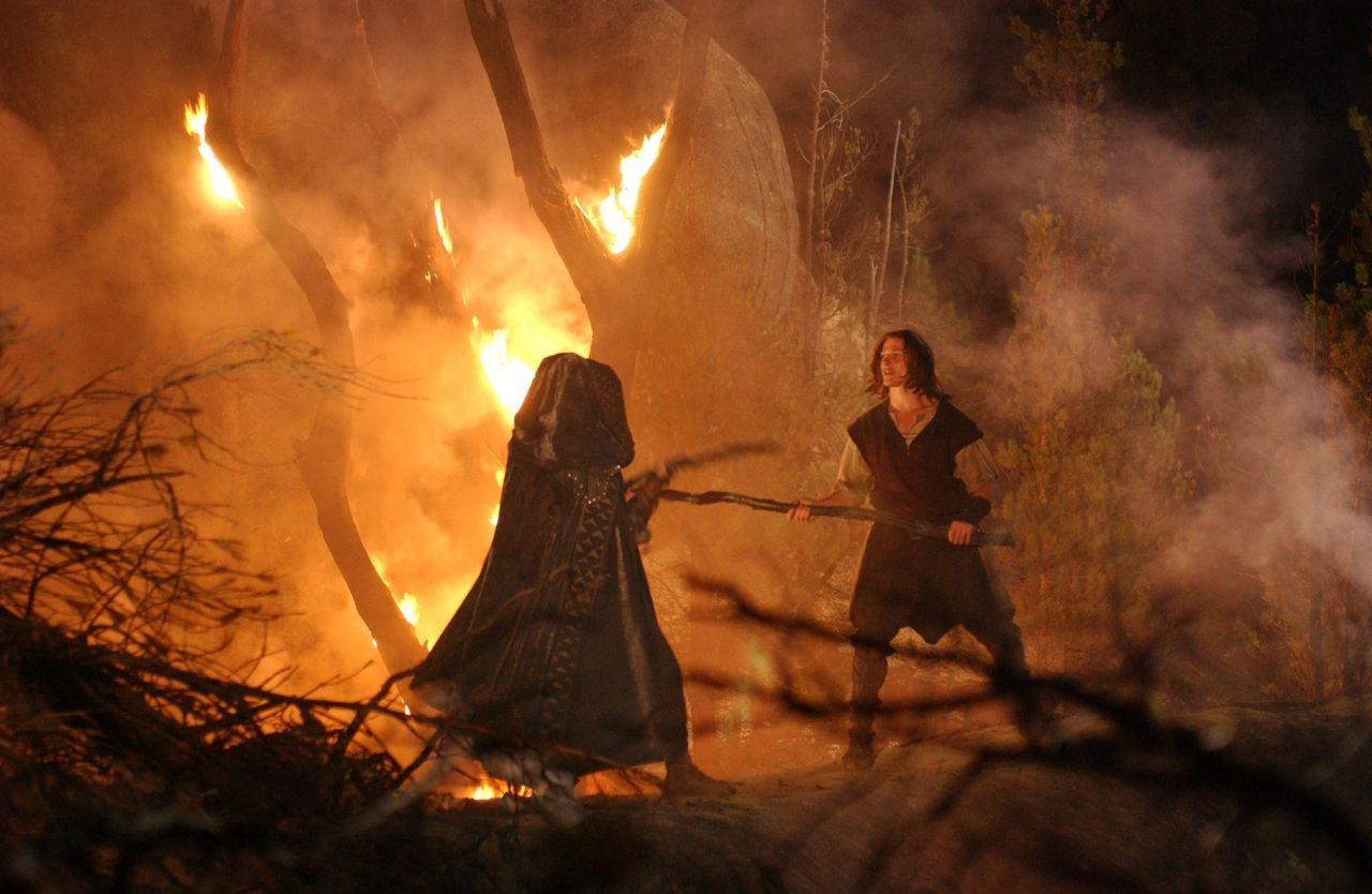 Siegfried fights the witch Hallbera