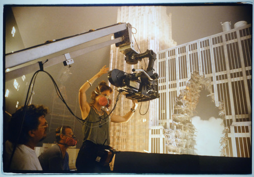 VFX DP Anna Foerster with Building Miniature
