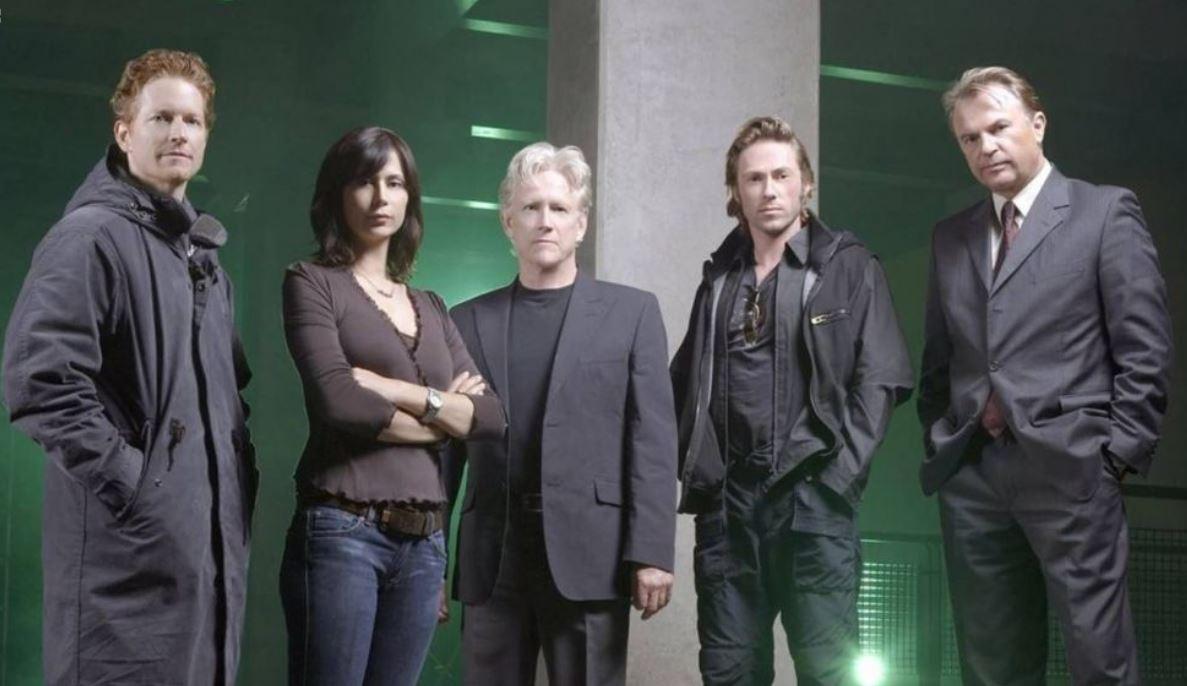 The Triangle Cast:  Eric Stoltz, Catherine Bell, Bruce Davison, Michael Rodgers, Sam Neill