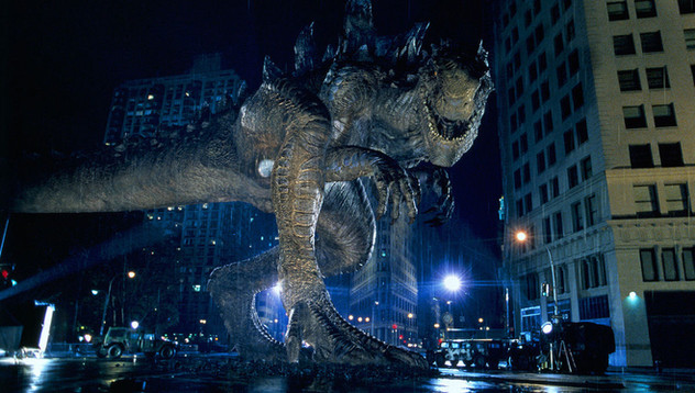 Final composite with NY plate and CG Godzilla