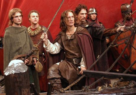 From left: Robert Pattinson, Sam West, Benno Fuermann and Julian Sands