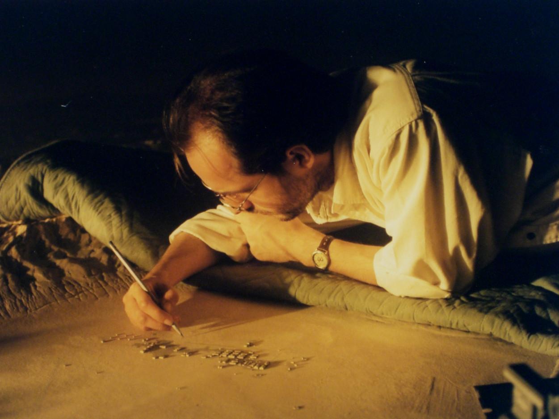 VFX Supervisor Volker Engel with tiny Area 51 miniature