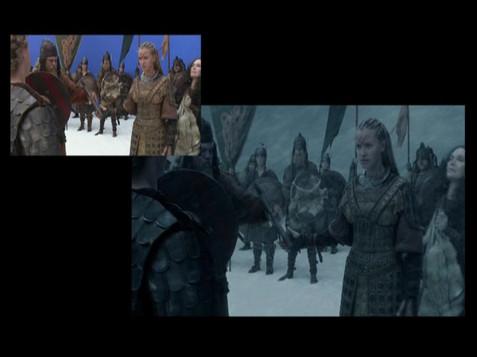 Brunhild dares Gunther/Before & after