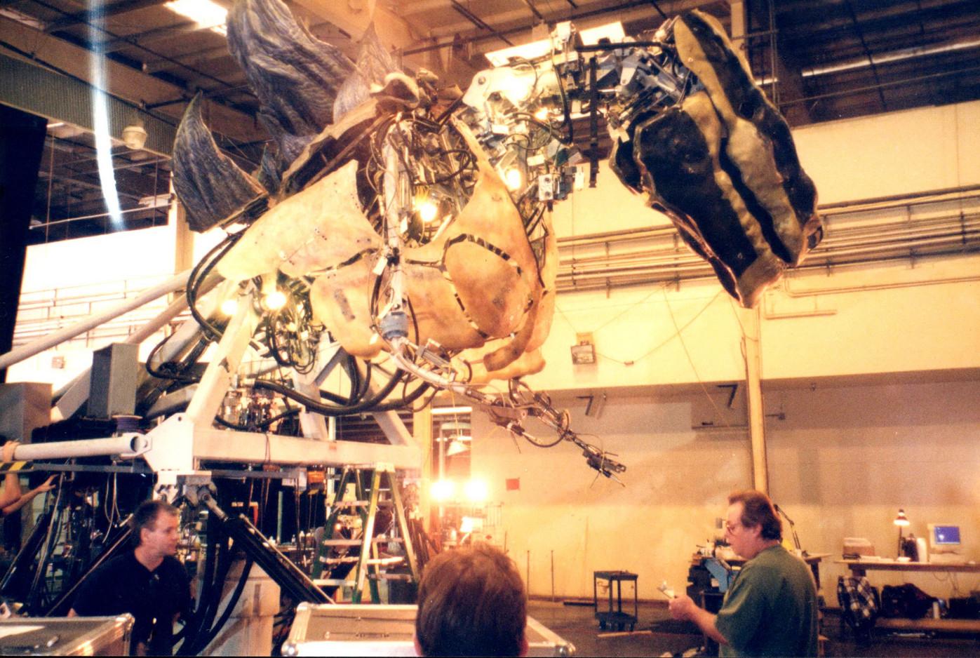 6th scale Godzilla upper Torso at Patrick Tatopoulos' workshop
