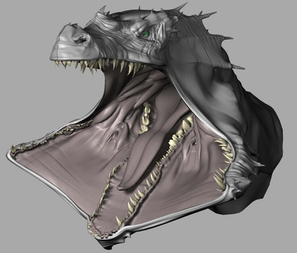 CG Dragonhead with extended jaws design