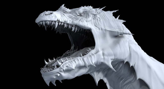 CG Dragon head