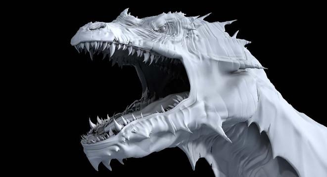 CG Dragon head