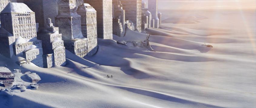 Manhattan under ice and snow (Trailer shot)