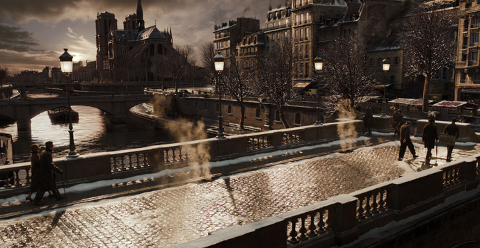 Bridge wide shot with Notre Dame