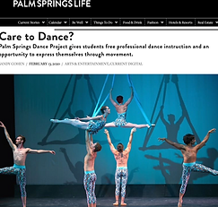 Palm Springs life The Palm Springs Dance Project