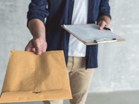 Доставка документов курьером