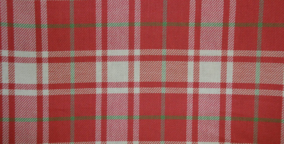 Watermelon Plaid Fabric