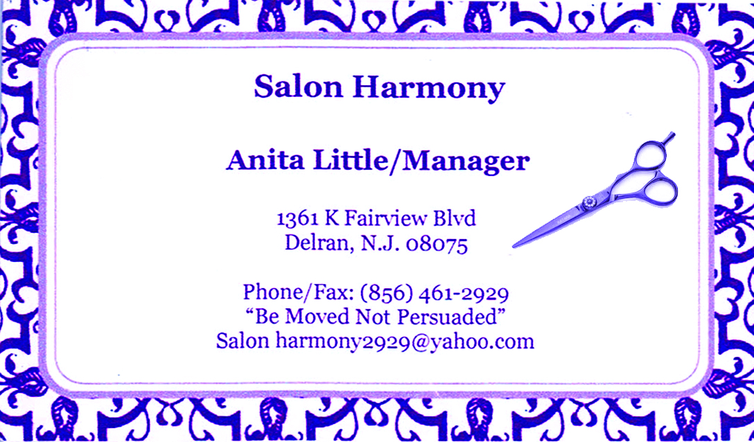 SALON HARMONY business card2