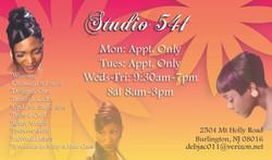 Studio 541 Bizcard Back