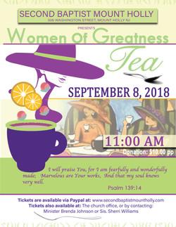 WOMEN TEA FLYER