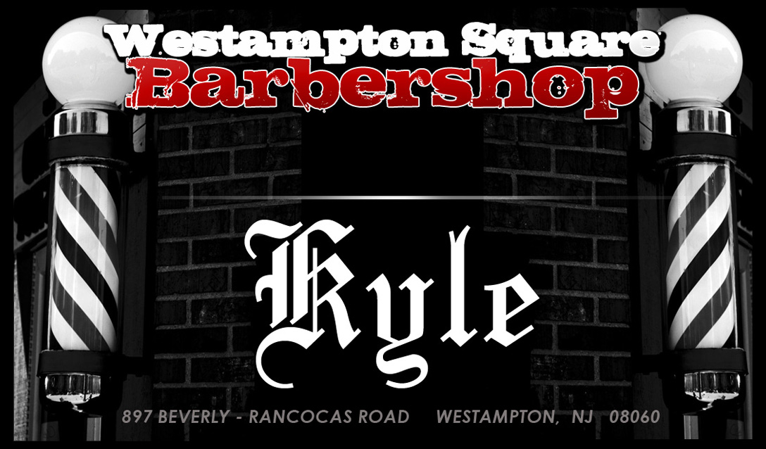 Kyle Barber Shop Business Card FRONT