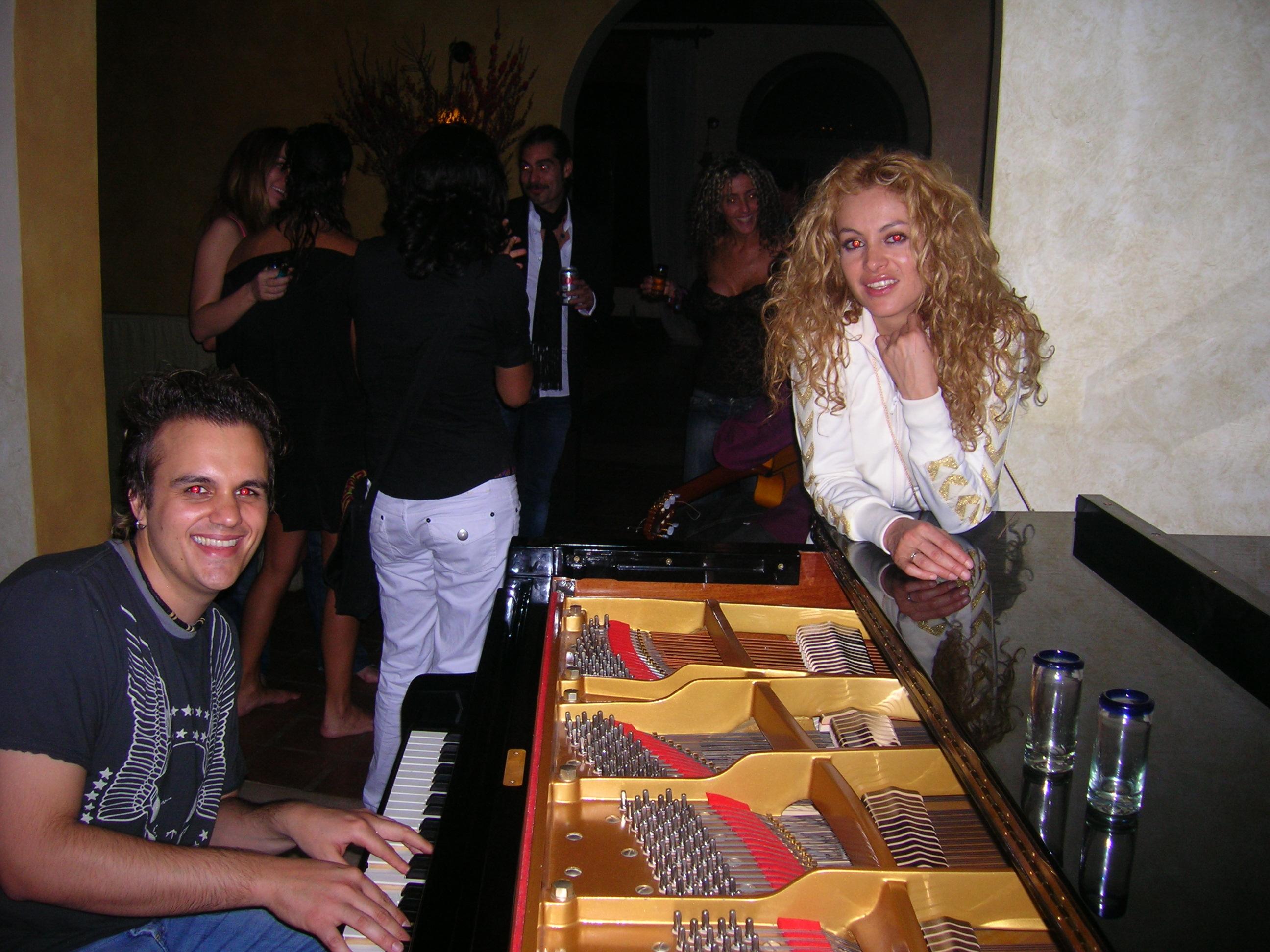 Nazareno Andorno and Paulina Rubio
