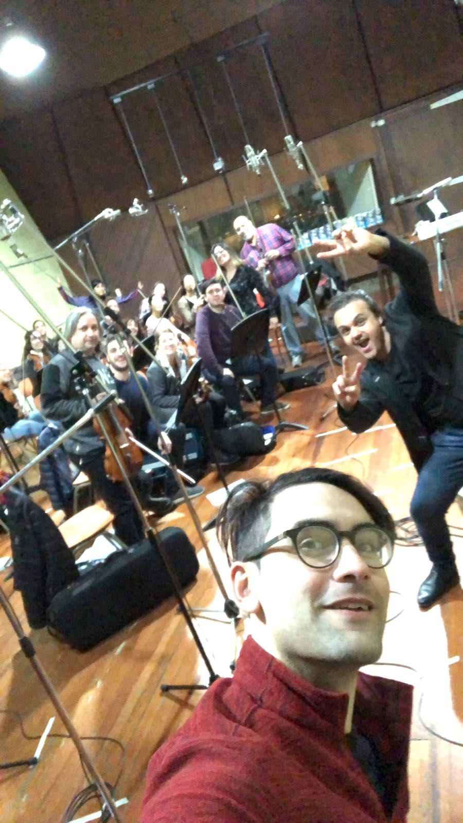 Recording Symphonic ION studio