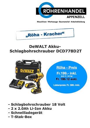 DeWalt Akku Schlagbohrschrauber DCD778 j