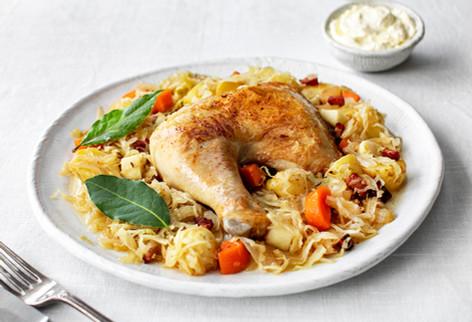 Braised chicken with sauerkraut