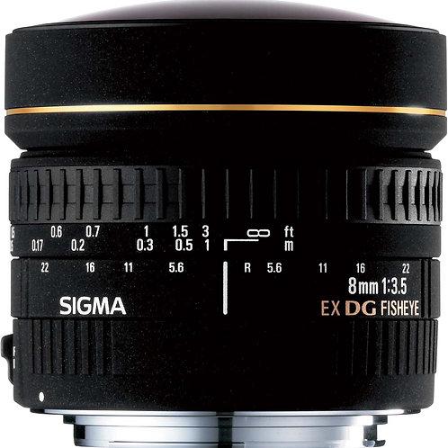 Sigma 8mm f/3.5 EX DG fisheye for Canon
