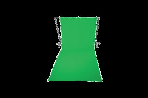 Зеленый хромакейный фон Westcott (3*6м)  (тканевый) в комплекте со штангой и сто