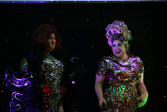 Diamond and Vi on stage at Rubyz