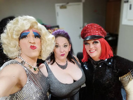 Sally Foxy and Jo Back stage at Rubyz Bo