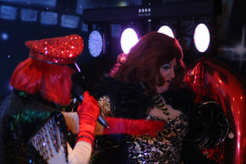Drag queens at rubyz cabaret party