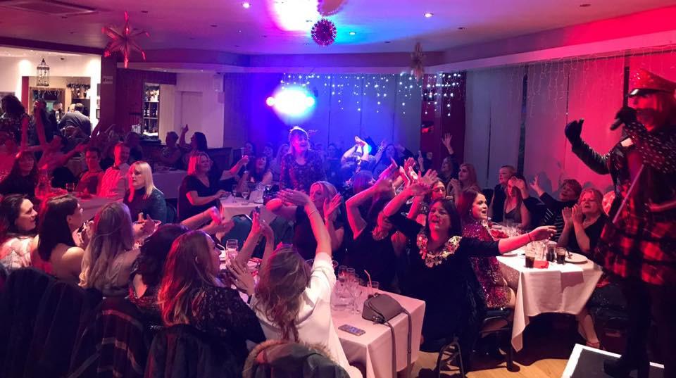 Foxy on stage at the award winning Rubyz Cabaret comedy club Bournemouth
